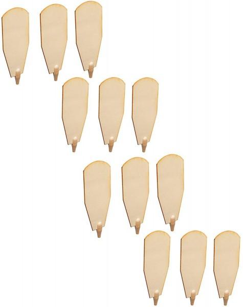 BRUBAKER Pyramiden Ersatzteil Komplett-Set für Weihnachtspyramiden 45 cm / 60 cm Holz naturfarben