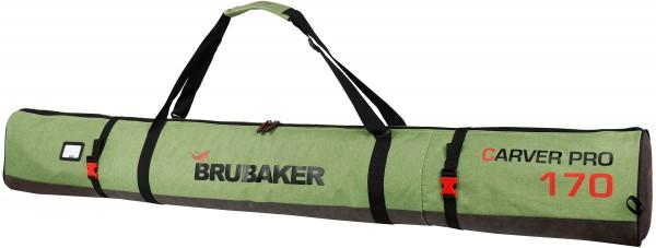 BRUBAKER Carver Performance Skisack für 1 Paar Ski und Stöcke - Schwarz Grün