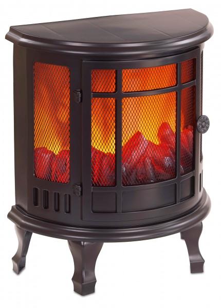 LED Kamin - mit Flammeneffekt - Kaminofen mit Beinen - Schwarz - 35 x 30 cm