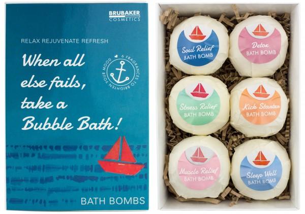 "6 teiliges Badebomben Geschenkset ""When all else fails, take a Bubble Bath"" - Handgemacht - Vegan -"