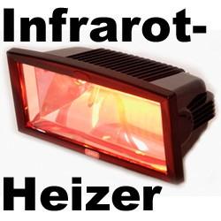 Infrarot Terrassenheizer Heizstrahler Terrassenstrahler SCHWARZ