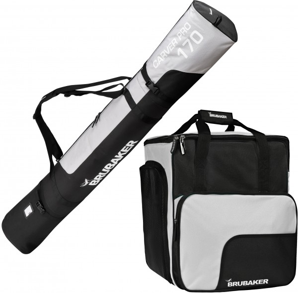 Kombi Set Carver Pro - Skisack & Skischuhtasche für 1 Paar Ski + Stöcke + Schuhe + Helm