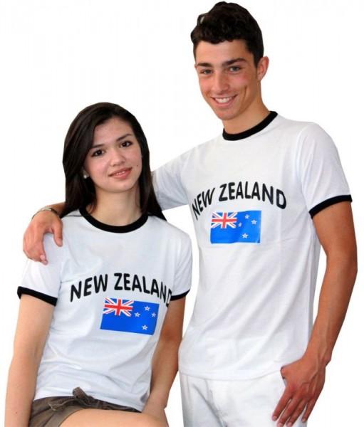 BRUBAKER Neuseeland Fan T-Shirt Weiß