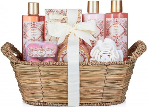 """11-teiliges Bade- und Dusch Set """"Apricot & Pomegranate"""" - Aprikose und Granatapfel Duft"""