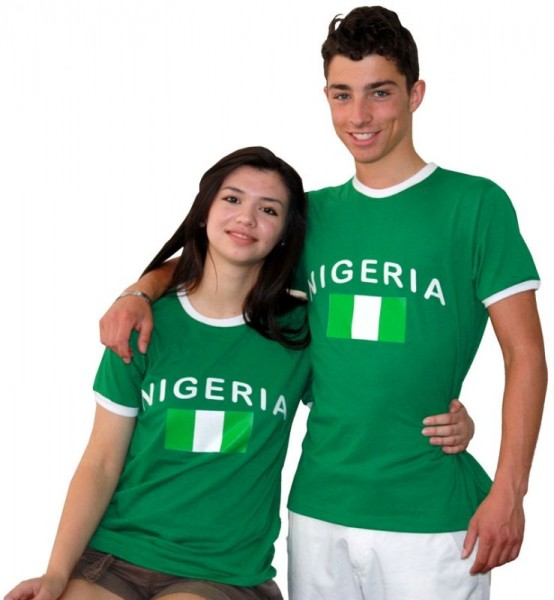 BRUBAKER Nigeria Fan T-Shirt Grün