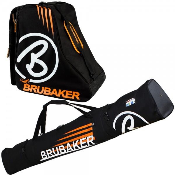 BRUBAKER Davos Kombi Set - Skisack und Skischuhtasche für 1 Paar Ski bis 190 cm + Stöcke + Schuhe -
