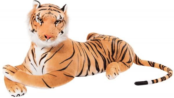 BRUBAKER Tiger braun 110 cm Stofftier Plüschtier