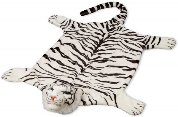 Tigerfell weiß 200 x 120cm (mit Schwanz) Bettvorleger Kaminvorleger