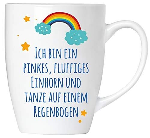 BRUBAKER - Ich bin ein pinkes, fluffiges Einhorn! - Tasse aus Keramik