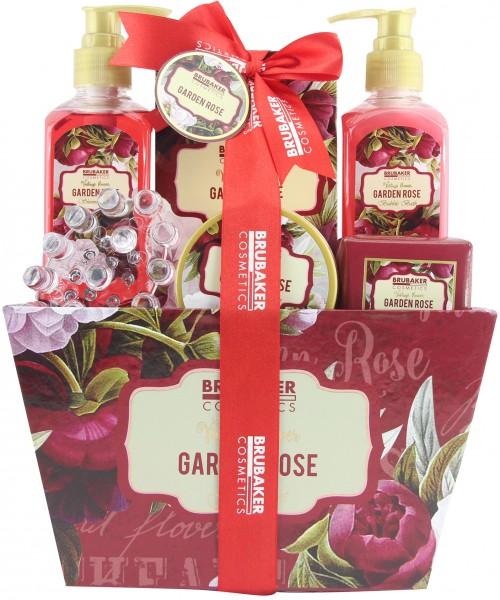 """7-teiliges Bade- und Dusch Set """"Garden Rose"""" floraler Rosen- und Veilchen Duft - Geschenkset"""