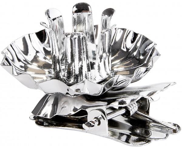 Baumkerzenhalter für Weihnachtsbaum Gold und Silber - Vintage Kerzenhalter - Kerzenzwicker mit Clip