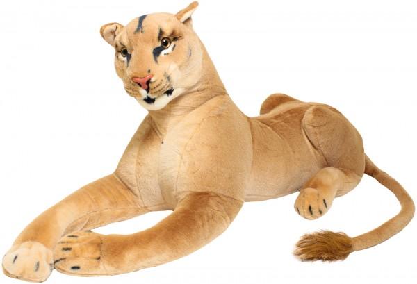 Löwin - liegend 110 cm - Stofftier Plüschtier