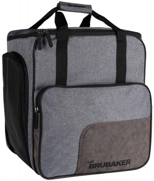 BRUBAKER Super Performance Skischuhtasche Helmtasche Rucksack - Schwarz Grau