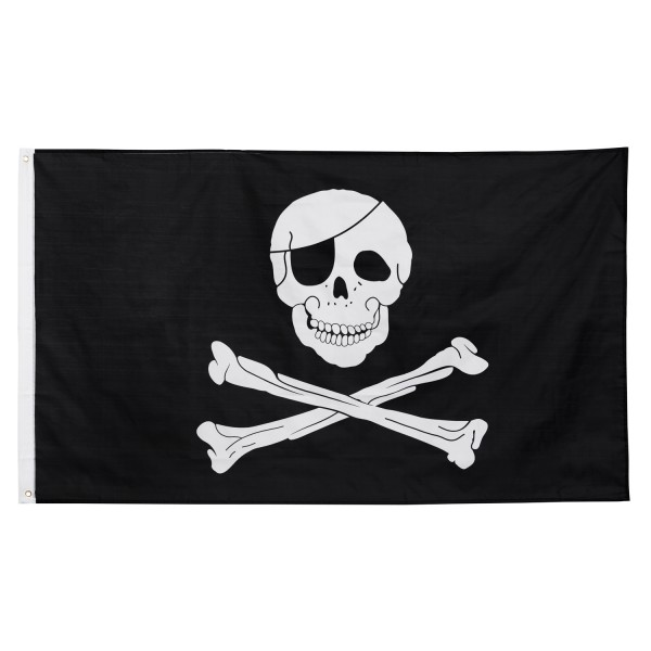 Flagge Fahne 'Skull & Bones' Piratenfahne große Hissfahne 150x90 cm von BRUBAKER