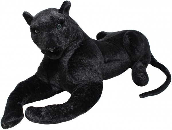 Panther - liegend 110 cm - Stofftier Plüschtier
