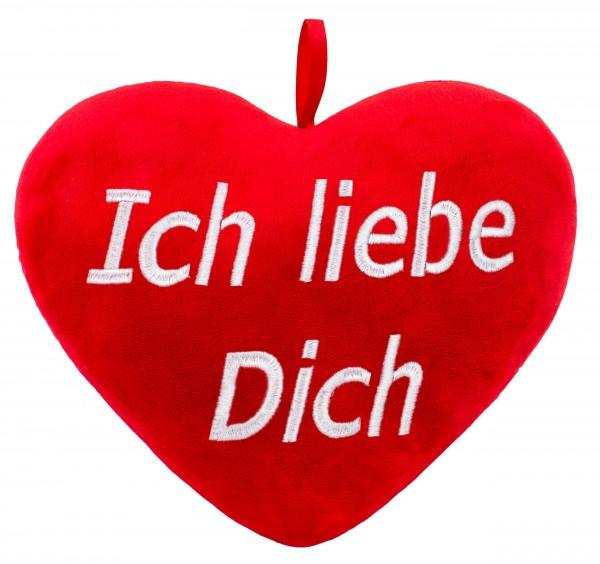 Brubaker Plüschkissen in Herzform - Ich Liebe Dich - Rot 32 cm - Herzkissen Bestickt