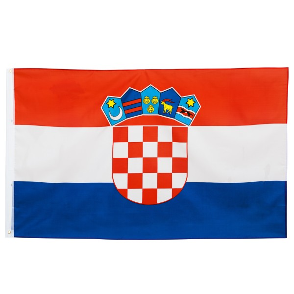 BRUBAKER Hissflagge Kroatien Fahne Flagge 150 x 90 cm Banner mit Ösen zum Hissen
