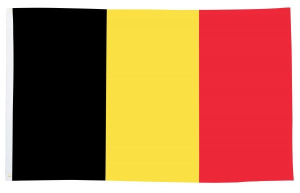 BRUBAKER Hissflagge Belgien Fahne Flagge 150 x 90 cm Banner mit Ösen zum Hissen