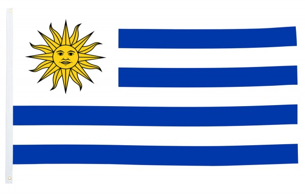 BRUBAKER Hissflagge Uruguay Fahne Flagge 150 x 90 cm Banner mit Ösen zum Hissen