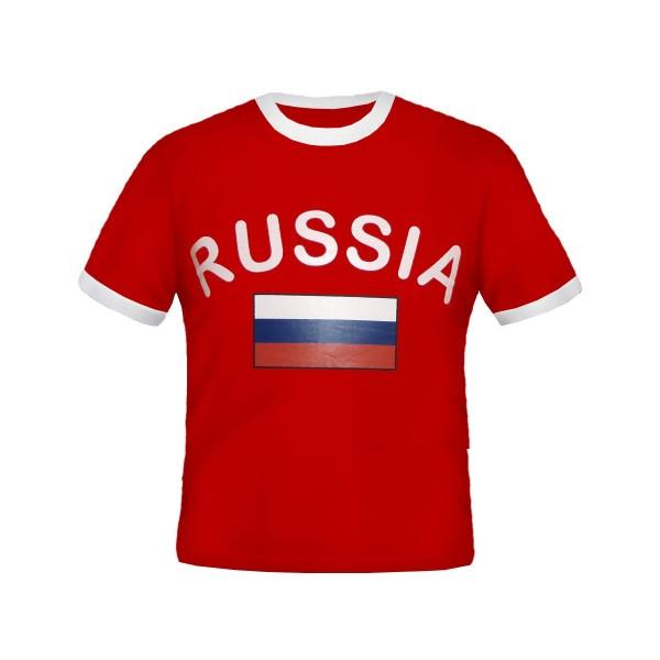 BRUBAKER Russland Fan T-Shirt Rot