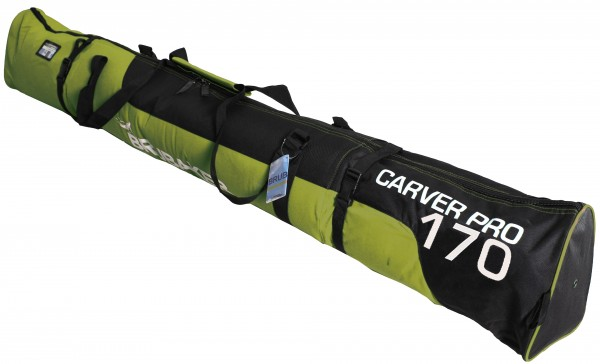 HENRY BRUBAKER Skisack Carver PRO 2.0 gepolsterte Skitasche Gelbgrün / Schwarz 170 cm