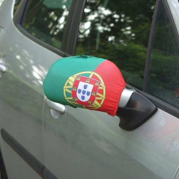 BRUBAKER Aussenspiegelflagge Flagge Portugal Spiegelflagge im 2er Set (rechts/links) Außenspiegelfla