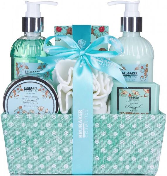 """7-teiliges Bade- und Dusch Set """"Chamomile fresh Cotton"""" Feuchtigkeitspflege Kamille - Geschenkset"""