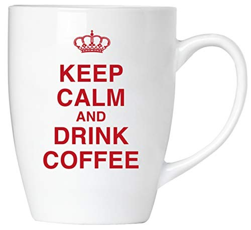 BRUBAKER - Keep calm and drink coffee! - Tasse aus Keramik