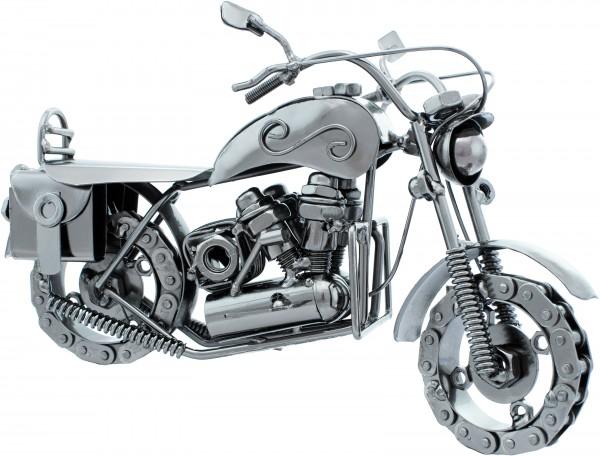 Dekofigur aus Eisen - Chopper Cruiser mit Kettenrädern - 24,5 x 15 x 10,5 cm - Handarbeit