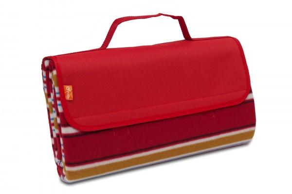 Picknickdecke 150 x 135 cm aus Fleece mit wasserfester PEVA Unterseite