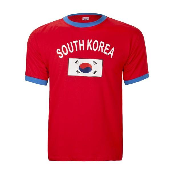 BRUBAKER Herren oder Damen Südkorea Fan T-Shirt Rot