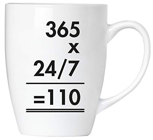 BRUBAKER - 365 x 24/7 = 110 Polizei - Tasse aus Keramik