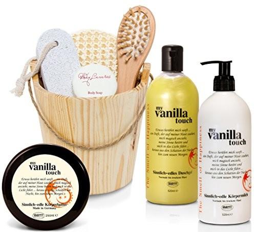 BRUBAKER Happiness Set (8-tlg) - Body Butter, Body Lotion, Duschgel, Body Butter und Kosmetikset