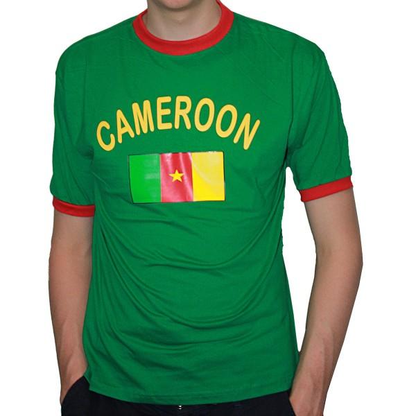 BRUBAKER Herren oder Damen Kamerun Fan T-Shirt Grün