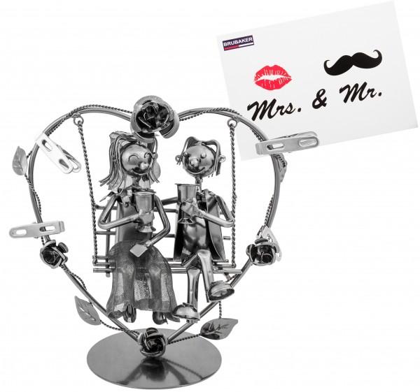 BRUBAKER Hochzeitspaar auf einer Schaukel - kreatives Geldgeschenk oder Fotogeschenk