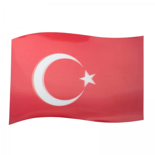 BRUBAKER Auto Magnetflagge Türkei mit 3D-Effekt
