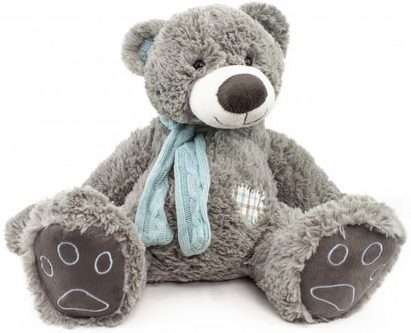 BRUBAKER Kuschelbär Teddybär 50 cm groß in grau