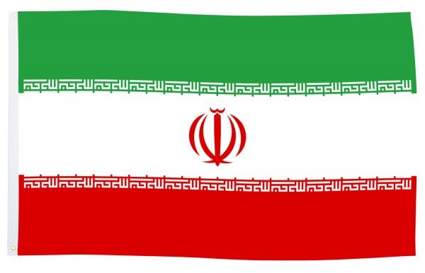 BRUBAKER Hissflagge Iran Fahne Flagge 150 x 90 cm Banner mit Ösen zum Hissen