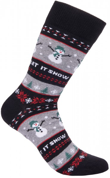 BRUBAKER Weihnachtssocken - Let It Snow - One Size (40-45)