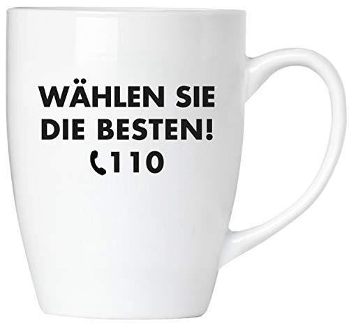 BRUBAKER - Wählen Sie die Besten! 110 Polizei - Tasse aus Keramik