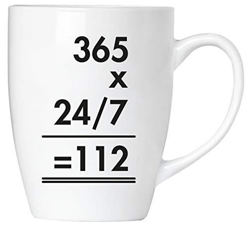 BRUBAKER - 365 x 24/7 = 112 Feuerwehr - Tasse aus Keramik