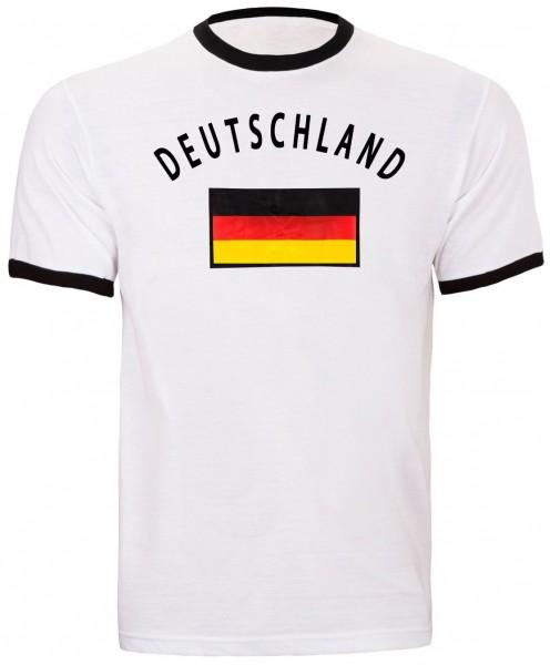BRUBAKER Deutschland Fan T-Shirt Weiß 100% Baumwolle