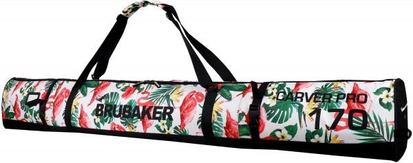 BRUBAKER CarverSpotlight Skisack für 1 Paar Ski und Stöcke - Flamingos - 170 cm