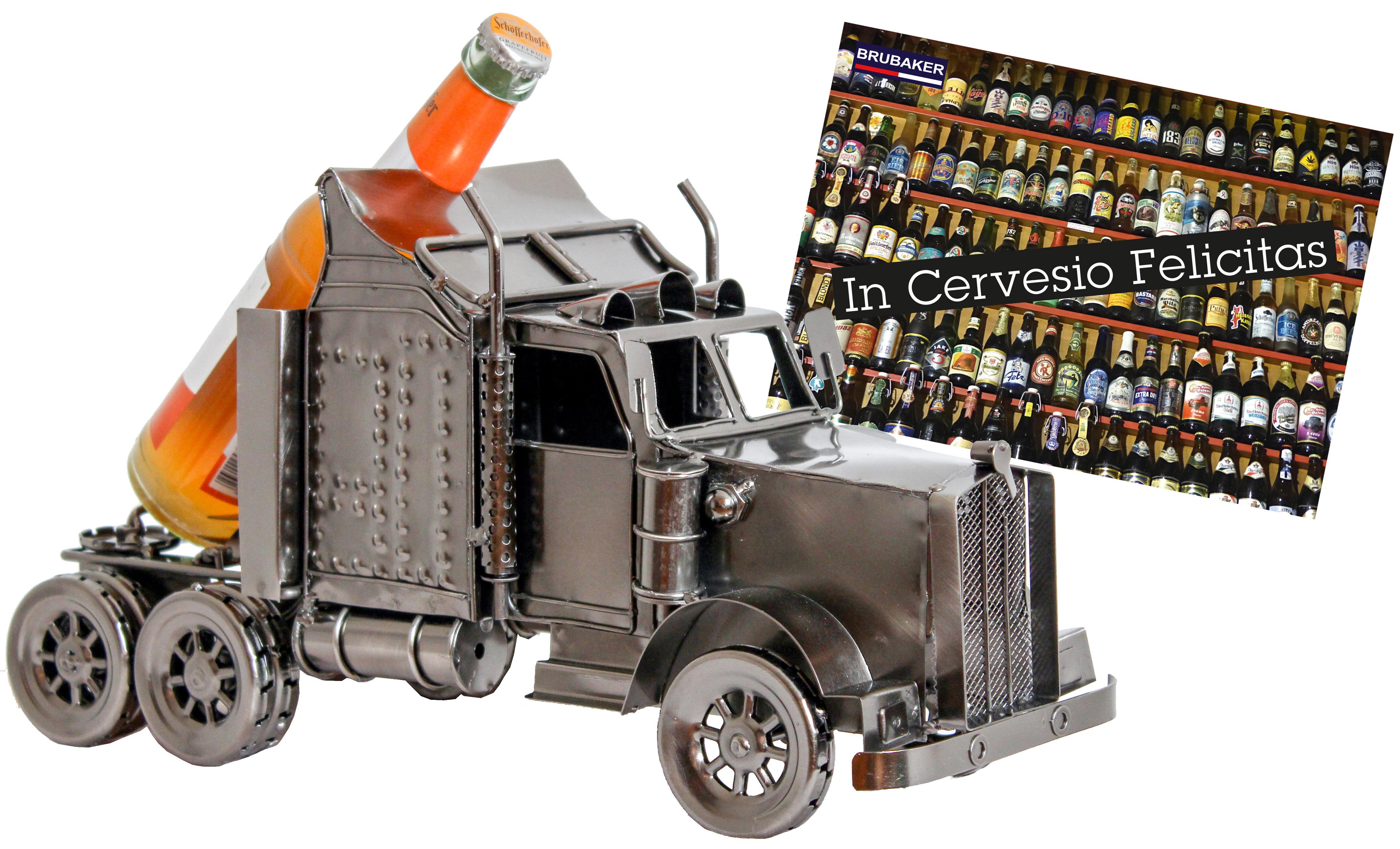 brubaker bier flaschenhalter truck metall skulptur geschenk mit geschenkkarte. Black Bedroom Furniture Sets. Home Design Ideas