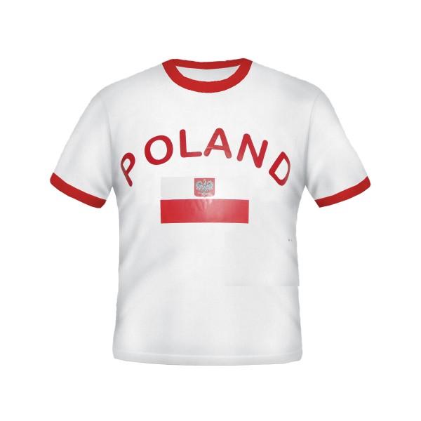 BRUBAKER Polen Fan T-Shirt Weiß