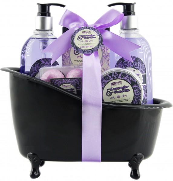8 tlg. Bade- und Dusch Set - Beautyset - Geschenkset - Lavendel Vanille Duft