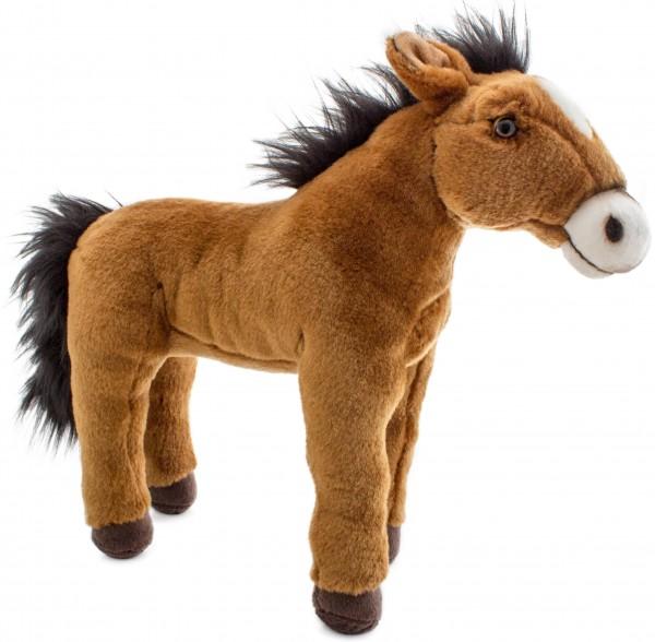BRUBAKER Pferd Braun stehend 35 cm aus Plüsch