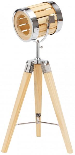 Stehlampe aus Holz - Stativbeine aus Holz - Industrial Design - 65 cm hoch