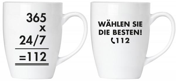 """BRUBAKER """"Wählen Sie die Besten! 112 Feuerwehr"""" Tassen Set aus Keramik - Grußkarte und Geschenkpacku"""