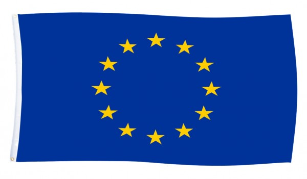 BRUBAKER EU Europa Flagge Fahne Hissflagge 150 x 90 cm - Europäische Union